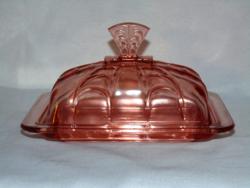 Antik üveg vajtartó
