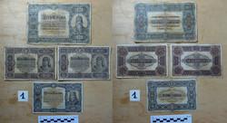 1000 korona 2db 100 korona 50 korona Magyarország 1920 1.sor