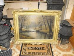 Nagy Antik festmény kb 100 éves Kádár féle szignó  talán