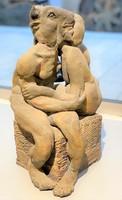 Schrammel Imre égetett agyag szobor - M022