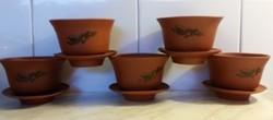 Terrakotta kínai teáscsészék