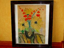 Virág csendélet - Ubrizsy Gábor akvarell