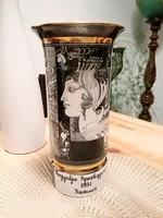 Hollóházi Szász Endre porcelán váza 26 cm