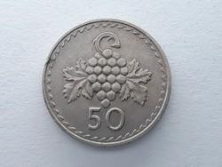 Ciprus 50 Mil 1980 - Cyprus pénzérme szép állapotban eladó