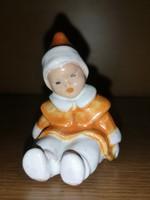 Antik gyűjtői ritkaság porcelán kislány