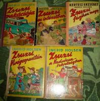 Ingrid Holsen - Kertész Erzsébet Zsuzsi sorozat 5 kötete Pályi Jenő rajzaival Nova