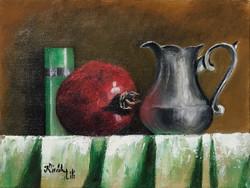 Csendélet gránátalmával - olajfestmény