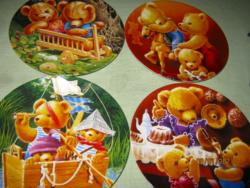 4 db Bradex macis dísztányér gyűjtői fali tányér