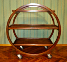 Különleges formájú, ART DECO kerekes polc vagy zsúrkocsi /1920/