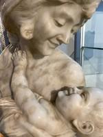 Nő kis deddel, márvány, 1900as évek eleje - M026