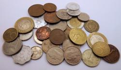 Európai váltópénz pénz érme pénzérme kupac