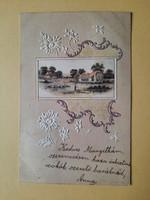 Antik dombornyomott levelezőlap, 1900