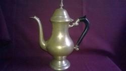 Régebbi fém , teás vagy kávés kanna , kiöntő