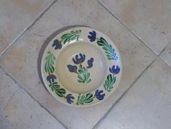 Régi virágos tányér