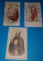 3 Csipkeszegélyes szentkép:  Szent Antal , Szent János , Szent Ignác