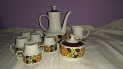 Hollóházi porcelán kávés készlet