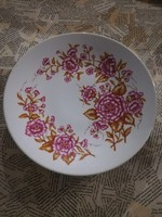 Zsolnay virágos falitányér 24.5 cm