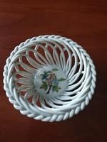 Herendi porcelán fonott tálka