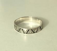 Férfi ezüst gyűrű magyar fémjeles