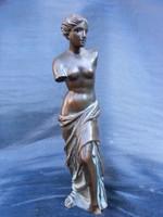Művészien megmunkált, bronz, női torzó szobor. Hibátlan,darab.
