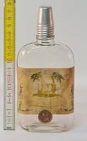 """""""Barack pálinka a Gschwindt-féle R.T. főzdéjéből"""" címkés likőrösüveg (1478)"""