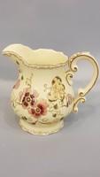Zsolnay kézi festésű pillangós teás tej vagy citrómlé kiöntő