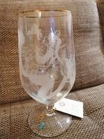 Gyűjtői kehely! Riedel üveg, 26 cm magas, Kurt Moldovan alkotásával, egyedi sorszámmal