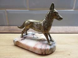 Réz Németjuhász kutya  figura szobor Német juhászkutya