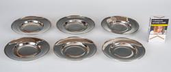 Ezüst art deco tányérkészlet (6 darabos)