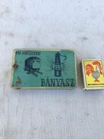 Retro - VIII. Bányásznap bányász cigaretta fém doboz pléh dózni