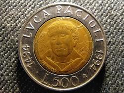 Olaszország Luca Pacioli 500 Líra 1994 R (id27423)