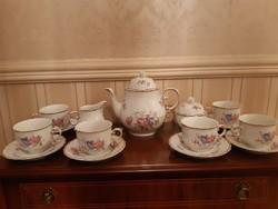 Hollóházi Hajnalka mintás 6 személyes teás készlet