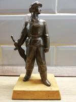 Réz Szocialista kommunista Munkásőr figura szobor