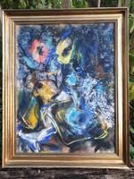 Félegyházi László (1907-1986) Csendélet 1973 arany keretben