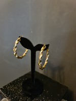 Női arany csavart karika fülbevaló pár 14K 585