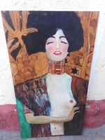 Modern, női portré, ismeretlen alkotó műve. Nagyméretű, keret nélkül. Olaj-farost.