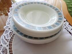 Angol tejüveg, jénai  lapos és mély tányérok: