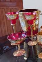 Muranoi pezsgős készlet