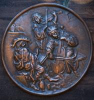 Mulatozó magyarok fém falitál