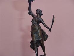Francia szoborlámpa Augosto Moreau?