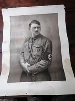 Hitler kép korabeli nyomat 50x38cm