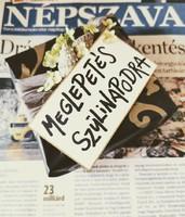 2002 április 25  /  NÉPSZAVA  /  19. SZÜLETÉSNAPRA! Ssz.:  13560