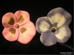 2-db kerámia virág,asztali dísz 5 cm-es