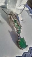 Smaragd 925 ezüst medál