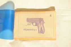 Kézi lő riasztó fegyver tervrajz , gyártásleírás műszaki könyv 70 -es évek