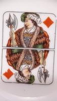 Francia kártya motívumos porcelán hamus 3.