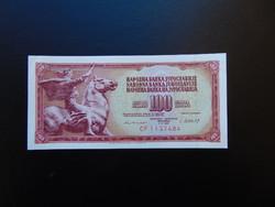 100 dinár 1981 Jugoszlávia Szép ropogós bankjegy  01