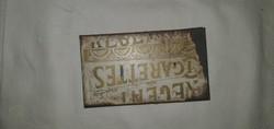 Antik THE REGENT cigarettás fém doboz