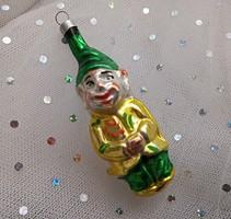 Régi üveg karácsonyfa dísz törpe 8,5cm