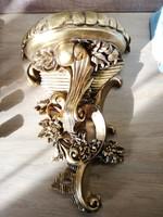 Barokk Faragott Fa fali posztamens szobor tartó